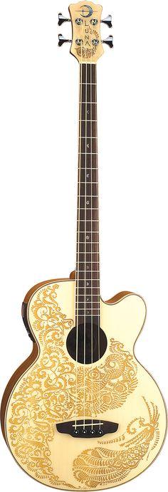 Luna Guitars - Henna Paradise Bass - 1 of 2