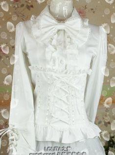 White Snow Princess Lolita Bow Shirt
