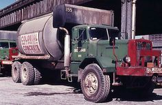 Old school concrete truck Mack Trucks, Dump Trucks, Old Trucks, Vintage New York, Vintage Iron, Equipment Trailers, Mixer Truck, White Truck, Concrete Mixers