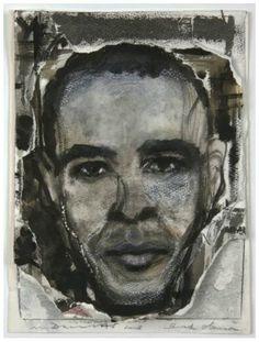 Obama by Marlene Dumas