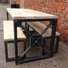 Industrial Steampunk Reclaimed Wood Dining от ReclaimedBespoke