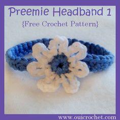 Preemie Headband 1 {Free Crochet Pattern}