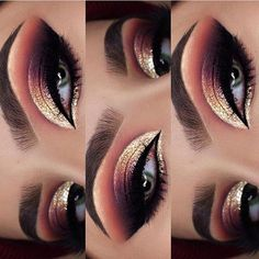 Make-up - This picture is just GOALS! We are always looking for new eyeshadow looks and tutorials for eye colors. Our calendar will help you stay on top of when the latest makeup eyeshadow palettes are being released! Eye Makeup Tips, Makeup Hacks, Smokey Eye Makeup, Makeup Goals, Makeup Ideas, Eye Makeup Tutorials, Beauty Makeup, Prom Eye Makeup, Makeup 2018