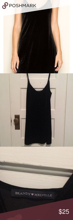 Brandy Melville black velvet dress A super cute dress for a night out or for a casual outing. One size fits all but it was a little too loose for my liking. Brandy Melville Dresses Mini
