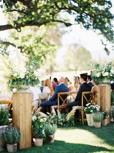 This rustic celebration feautures potted cactus lining the aisle, all white florals and a reception under twinkle lights. Plus peak inside the stunning al fresco rehearsal dinner in Ojai. Wedding Reception Flowers, Wedding Set Up, Flower Bouquet Wedding, Floral Wedding, Wedding Colors, Wedding Ideas, Bridal Bouquets, Wedding Dresses, Aisle Flowers