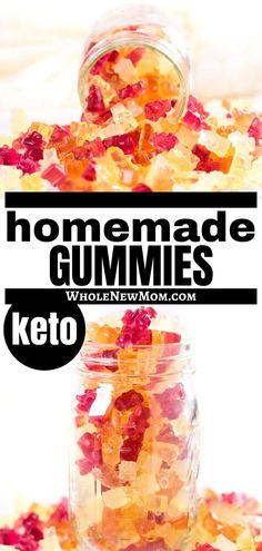 Need a healthy snack that's easy to take on the go? These Super Healthy Gummies are loaded with tons of nutrition so you can feel good about serving to your kids anytime! We make multiple batches of these every time we make them because they are gone in a flash. They're sugar free and high in protein too! Yummy Healthy Snacks, Easy Snacks, Healthy Treats, Easy Healthy Recipes, Raw Food Recipes, Keto Recipes, Homemade Gummies, Keto Candy, Candy Recipes