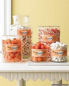 Peach / Coral / Orange Candy buffet - bar