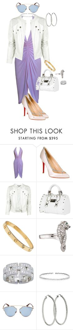 """""""Sultry Versace"""" by quocanh1383 ❤ liked on Polyvore featuring Versace, Christian Louboutin, Versus, Cartier, Suzanne Kalan and Christian Dior"""