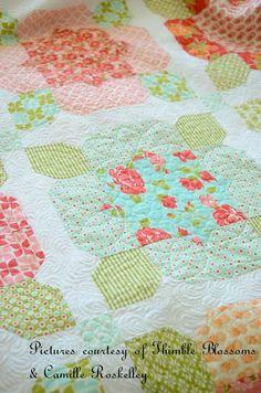 Marmalade Flower Girl Quilt Kit by Bonnie & Camille for Moda Fabrics KIT55050. $130.00, via Etsy.