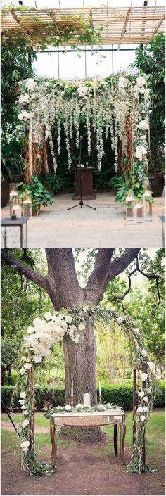 Greenery eucalyptus wedding arches #green #wedding #weddingideas #dpf #deerpearlflowers #weddingcolors #wedding #greenwedding #greenery #weddingtrends #wedding2018