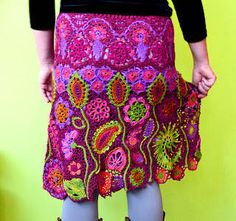 crochet freeform skirt