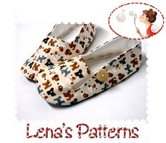 Easy Sewing Pattern for Child's Loafer Shoes - PDF sewing pattern