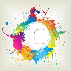 iCLIPART - Abstract grunge background illustration with colourful paint splats Logo D'art, Art Logo, Grunge, Pintura Vector, Fond Design, Paint Splats, Images Esthétiques, Design Tattoo, Art Watercolor