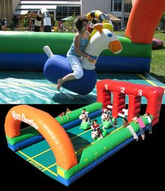 Fun Derby - inflatable horse race. Looks awesome!  http://sportsbettingarbitrage.in