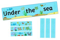 FREE Under The Sea Display Banner and Borders Early Years (EYFS) Printable Resource — Little Owls Resources - FREE Nursery Practitioner, Early Years Teacher, Free Printable Banner, Display Banners, Welcome Banner, Sea Theme, Eyfs, Nursery Rhymes, Coloring Sheets