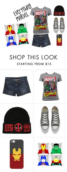 """""""Everything MARVEL"""" by lilac-foxx ❤ liked on Polyvore featuring Victoria Beckham, Marvel Comics, Marvel, Converse and Casetify"""