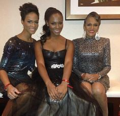 Tika Sumpter with her mom & sister