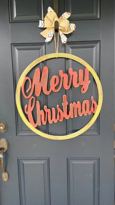 A personal favorite from my Etsy shop https://www.etsy.com/listing/464209464/christmas-door-decor-christmas-decor