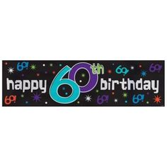 The Party Continues Metallic Giant Sign Banner X