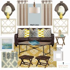 The Family Room: E-Design Board: Coastal Living Room