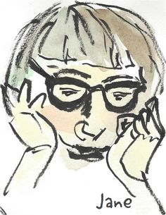 Jane Jacobs deep in thought. Jane Jacobs, Greenwich Village, Toronto, Writer, Deep, Drawings, Illustration, Writers, Sketches