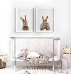 Konijn afdrukken kunst aan de muur kinderkamer dierlijke Childrens Bedroom Decor, Woodland Nursery Decor, Baby Nursery Decor, Project Nursery, Nursery Wall Art, Girl Nursery, Forest Nursery, Woodland Baby, Baby Prints