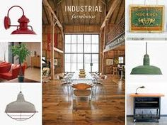 industrial_farmhouse_loft_stylelighting - Love the red one!