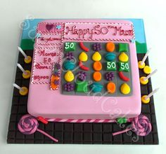 Candy Crush themed cake