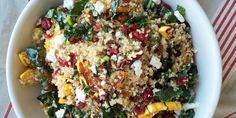 Proof that quinoa salads are anything but boring: This recipe loaded with sweet roasted squash, kale, and feta is a total flavor bomb.