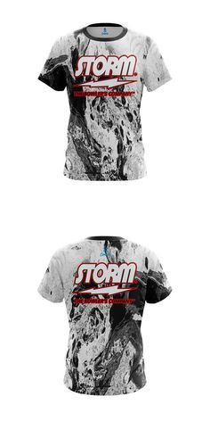 80f03c894 Clothing 20849: Storm Mens Dye Sub Shirt Marble Black Coolwick Performance  Crew Bowling Jersey -