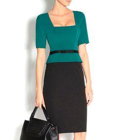 Green & black bow belt dress Sale - NISSA Sale