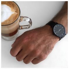 Coffee is what starts a good day! Feat our Verona Black Mesh Watch.