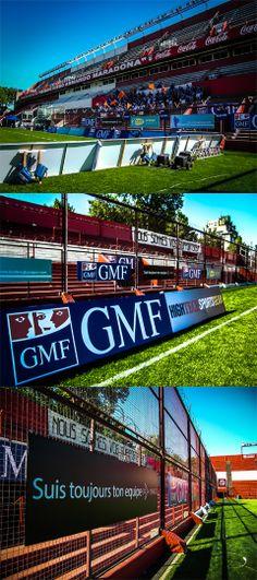 Comercial GMF Assurances (Francia)  Grafica ambiental para partido de Rugby