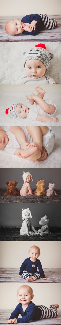 I might steal the bear idea for Mark's 6 month photo shoot :) 6 month photos