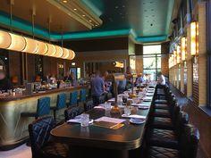 """#Bar und #Restaurant. #Steakhaus HOHOFFS 800° """"The Golden Cage"""" in Hagen.  Für die Einrichtung in Stil der 20er Jahre fertigten wir #individuelle #Bänke mit gerundeten Ecken. Jedes #Polsterelement ist mit aufwändigen #Stepp- und #Ziernähten versehen. Ebenso fertigten wir spezielle Tischplatten teils mit einer Länge von bis zu 5 Metern an. Unsere Empfehlung: Ausprobieren - das exzellente Fleisch und das Sitzen auf unseren Möbeln!"""