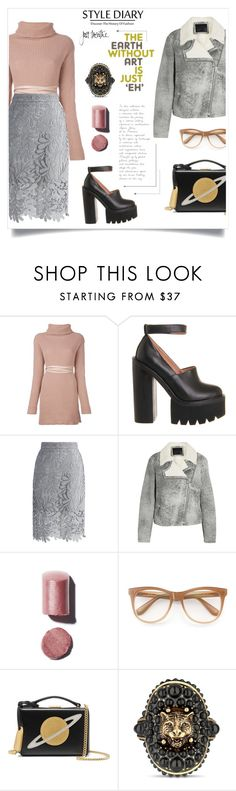 """""""come to me"""" by reginabarnes ❤ liked on Polyvore featuring Valentino, Jeffrey Campbell, Chicwish, McQ by Alexander McQueen, Chanel, Wildfox, Mark Cross and Gucci"""