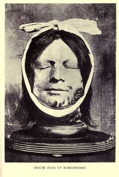 Death mask of Robespierre