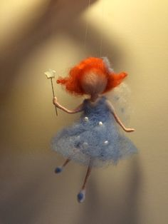Needle felted Waldorf inspired doll Spring fairy by BottegaSogni