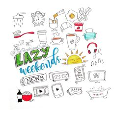 #tgif Doodles for lazy weekends ©TheRevisionGuide Doodles and lettering from instagram.com/therevisionguide