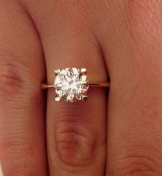 Unique Engagement Rings 2.00 CT Diamond Solitaire by RingsForYou, $7359.99
