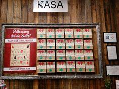 Advent calendar in bookstore