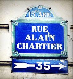 La rue Alain-Chartier (Paris 15ème)