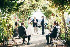 Tuscany Destination Wedding in purple and fuchsia