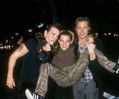 Johnny Depp, Brad Pitt, and Leonardo Dicaprio Beautiful Boys, Pretty Boys, Desenhos League Of Legends, Junger Johnny Depp, Young Johnny Depp, Young Leonardo Dicaprio, Young Actors, Celebs, Celebrities