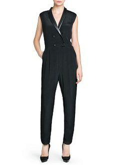MANGO - NEW - Tuxedo style jumpsuit