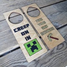 Hey, I found this really awesome Etsy listing at https://www.etsy.com/listing/212632313/minecraft-door-hanger-privacy-sign-mine