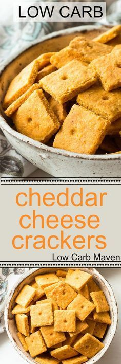 Low carb cheddar cheese crackers with a flaky, crispy texture like no other! Keto, gluten-free, grain-free.