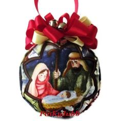 Baby JESUS Quilted decoration ornament
