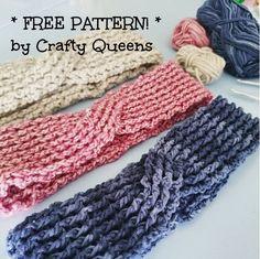 Crochet rib headband free pattern from Crafty Queens. Called a turban.