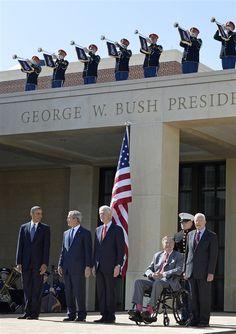 Rare gathering of five presidents at Bush Library dedication - PhotoBlog